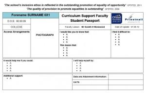 Student passport template optimus education the passport also includes vital information about access arrangements what additional support the pupil receives and data and attainment details pronofoot35fo Gallery